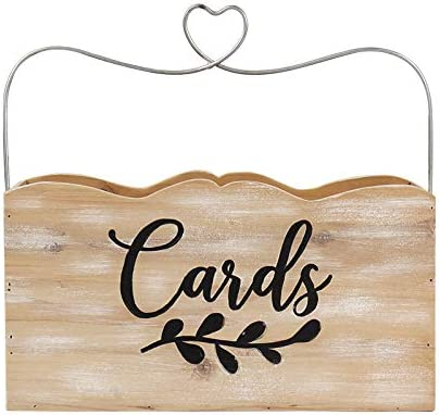 Hanna Roberts Card and Gift Holder De A surprise price is realized Today's only with Box Heart Wood Handle