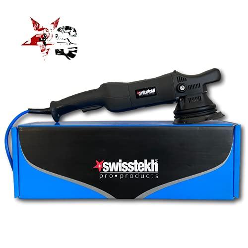 SWISSTEK DA15 Lucidatrice Rotobitale 15mm per Detailing e Lucidare la Carrozzeria di Auto e Barche. Platorello da 125mm, utilizzabile con Pasta Abrasiva e Polish Professionali, Elimina Graffi e Swirl