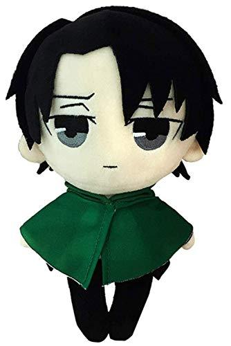 hahomin Levi/Rivaille Peluche Levi Ackerman Figura de anime Juguete de peluche suave de San Valentín Regalo de cumpleaños de 7.8 pulgadas (verde)