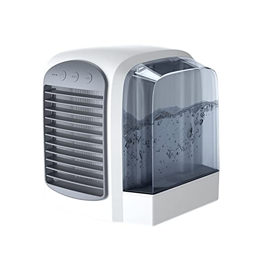 Refrigerador De Aire Portátil Mini Aire Acondicionado Ventilador Refrigeración Pequeño Aire Acondicionado Pequeño Aire Cooler Hogar Dormitorio Oficina Dormitorio Dormitorio Móvil Agua Agua(Color:gris)