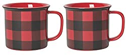 buffalo plaid christmas decor coffee mug