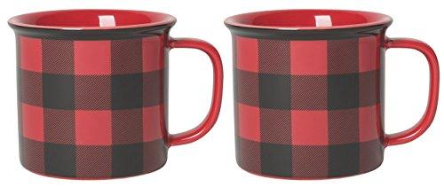 Buffalo Check Coffee - 14 oz Capacity | Set of 2