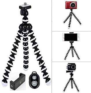 Marklif Flexible 13 inch Tripod with 360° Rotating Ball Head & Mobile Phones with Heavy Duty Mobile Holder for with Shutter