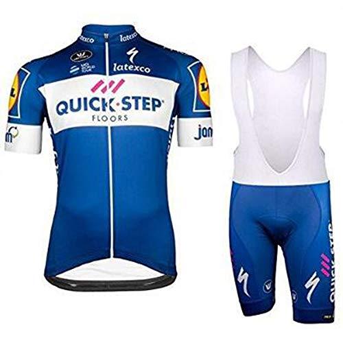 YDJGY Equipo Profesional Ciclismo Alta Calidad Para Hombres Ropa Ciclismo Manga Corta Transpirable Secado RáPido Kits Pantalones Cortos Ciclismo Para El Verano