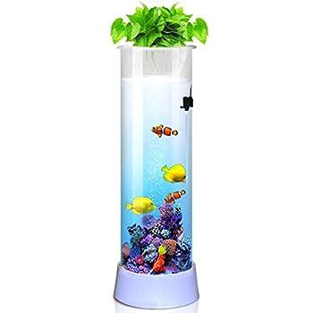 L'aquarium a une texture délicate et chaque processus est soigneusement conçu. Filtre en verre cylindrique aquarium vous une humeur différente et détend L'intérieur apporte des sons d'eau naturels pour soulager la pression de travail. Pas besoin de c...