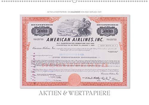 Aktien & Wertpapiere / CH-Version (Wandkalender 2020 DIN A2 quer): Wertvolle alte amerikanische Aktien wurden zu einem ansprechenden Kalender gestaltet. (Monatskalender, 14 Seiten ) (CALVENDO Wissen)