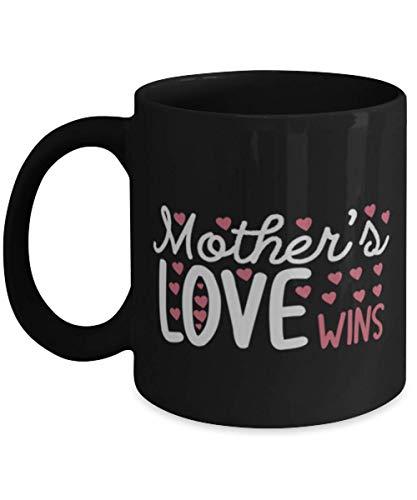 N\A Taza de café para mamá - Mothers Love Wins-2 - Negro 11oz