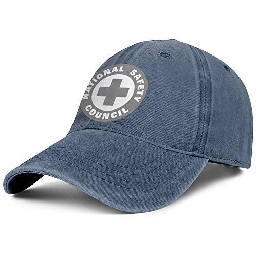 WJINX Men Women National-Safety-Council Stylish Denim Dad Snapback Twill Hat Adjustable