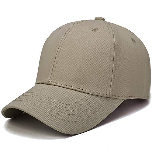Letdown(TM) Solid Color Baseball Caps for Men and Women Classic Adjustable Plain Hat Perfect for Running Workouts and Outdoor Activities