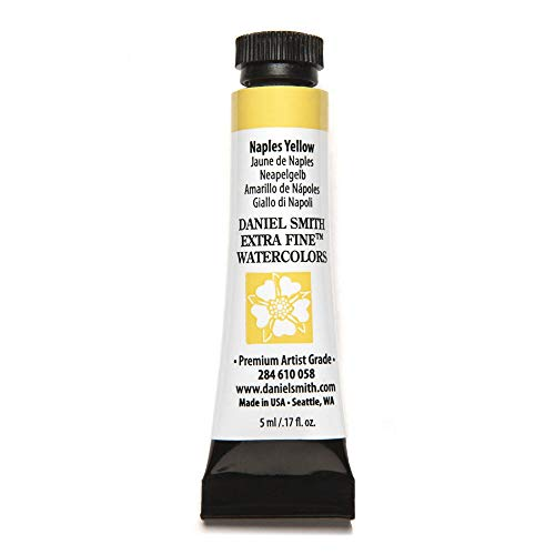 DANIEL SMITH Extra Fine Watercolor Paint, 5ml Tube, Naples Yellow, 284610058