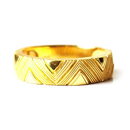 PRIMAGOLD(プリマゴールド) 24K Mens 純金リング指輪 幾何学模様 24金 純金 K24YGメンズ 男性用 ゴールド (13)