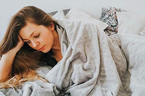GRAVITY TherapieDecke Gewichtsdecke - Schwere Decke für Erwachsene/Jugendliche Für besseren Schlaf, Größe: 155x220 cm, 8 kg - 4