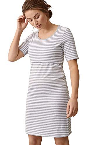 Boob Zwangerschaps Nachtjapon Nachtkleed voor Voeden Zwangerschapskleding Nachtjapon voor Zwangere Vrouwen Gemaakt van Biologisch Katoen