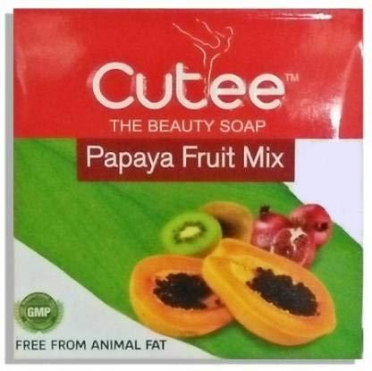 Cutee The Beauty Soap Papaya Fruit Mix100 Gram ( Pack of 5)