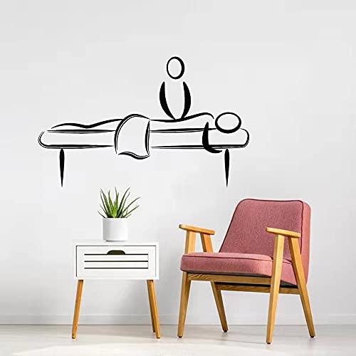 Etiqueta engomada del arte de la pared Sala de masajes Belleza Mujeres Etiqueta de relajación Póster de vinilo Mural de moda moderno A5 57x35cm
