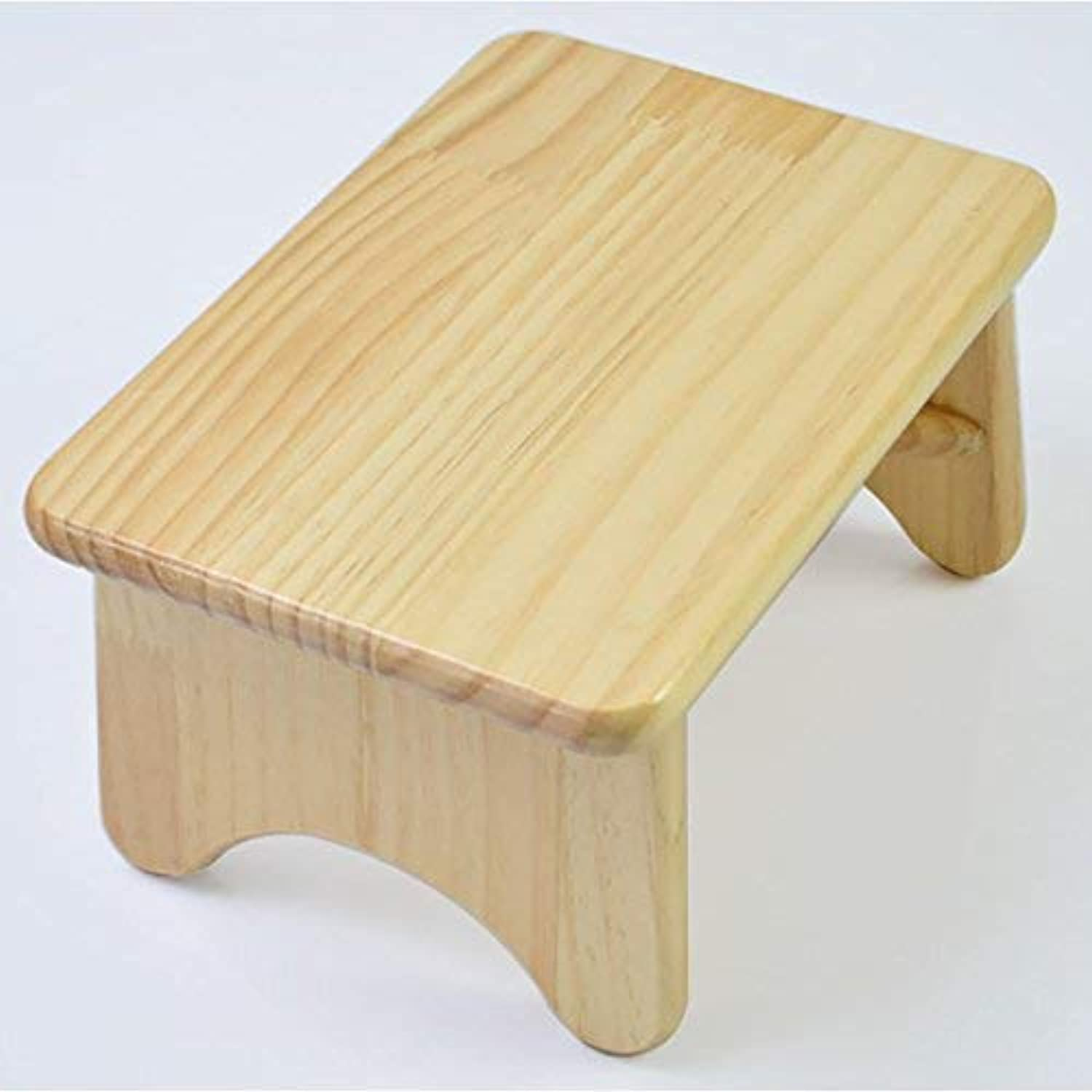 JZX Stool, Living Room Solid Wood Square Footstool, Small Bench