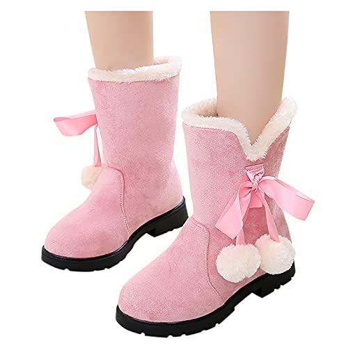 Kinderschuhe Baby Mädchen Prinzessin Schuhe Mode Bowknot Baumwollstiefel Schneestiefel Anti-Rutsch Sohle Schuhe Kinder Kleinkinder