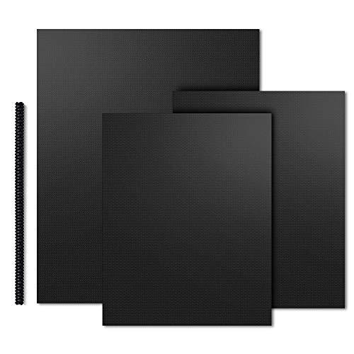 Dauerbackfolie - 3 Blatt Backpapier Wiederverwendbar Enthält 1X Hitzeschutzleiste, Antihaft - Backfolie für Grillen, Nachhaltige Produkte Backpapiere Backmatte