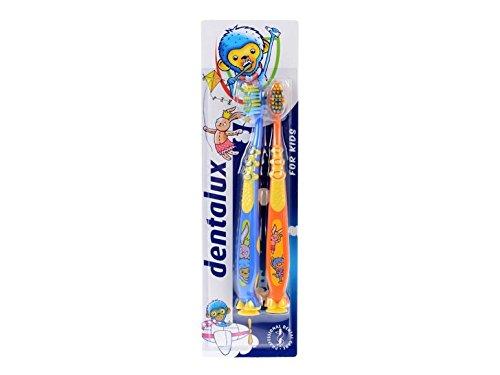 DENTALUX Cepillo de dientes infantil, 2 unidades