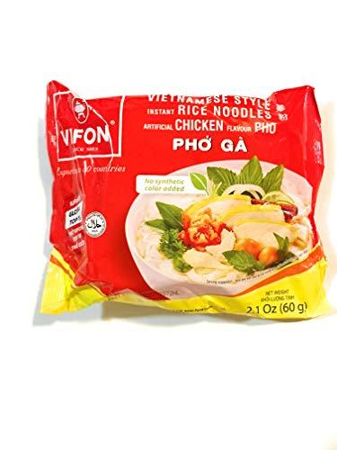 Vifon vietnamese Style Instant Rice Noodles Artificial Chicken Flavour PHO 2.1 Oz(10 Pack)
