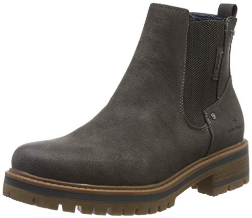 TOM TAILOR Damen 7990004 Stiefeletten, Grau (Coal 00013), 39 EU