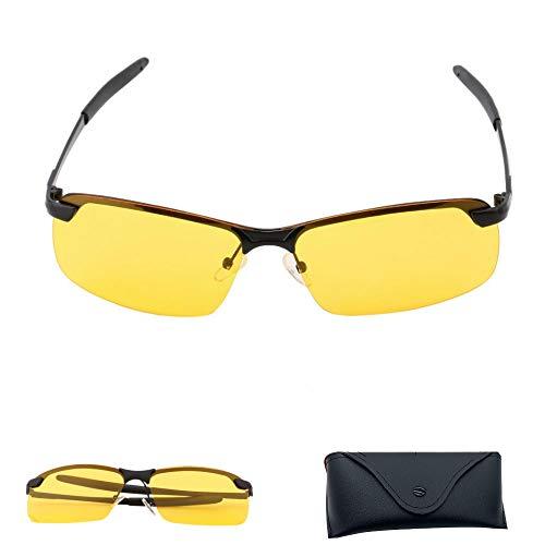 Anbose Professionelle Nachtfahrbrille, blendfrei, für Männer und Frauen, Sicherheits-HD-Nachtsicht, polarisierte Fahrbrille, Sonnenbrille zum Autofahren, Angeln, mit Faltbox