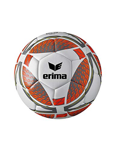 Erima Unisex Jugend Senzor Lite 290 Fußball, grau/Fiery Coral, 4