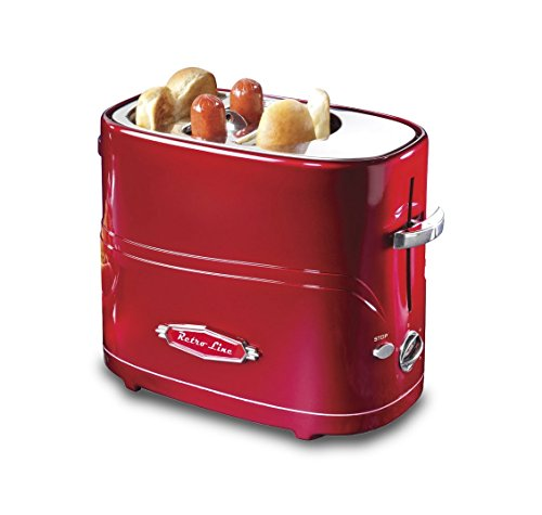 Ricatech Retro Line Hot Dog POPUP Toaster Maquina de Perritos Calientes, Acero...