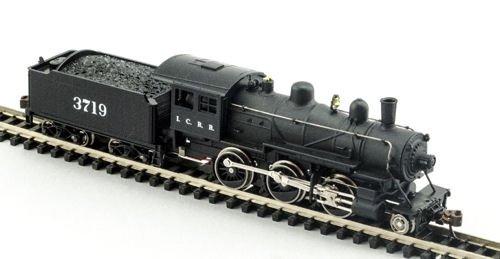 MDP N Scale Illinois Central 2-6-0 Mogul Model Train Steam Locomotive - Model Power 87618
