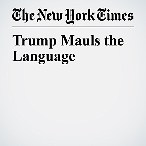 Trump Mauls the Language copertina