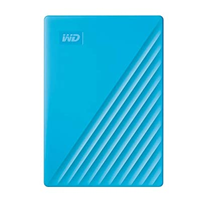 WD 4 TB My Passport Portable Hard Drive with Password Protection and Auto Backup Software - Blue - Works with PC, Xbox and PS4
