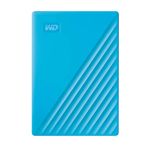 Western Digital WD 2TB My Passport Portable External Hard Drive, Blue - with Automatic Backup, 256Bit AES Hardware Encryption & Software Protection