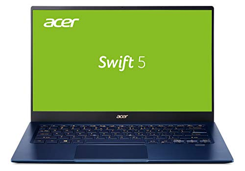Acer Swift 5 (SF514-54T-76GW) 35,6 cm (14 Zoll Full-HD IPS Multi-Touch) Ultrabook (Intel Core i7-1065G7, 16 GB RAM, 512 GB SSD, Intel Iris Plus Graphics, Windows 10 Home) blau/gold