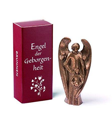 Bronze Engel der Geborgenheit: Bronze-Figur in Geschenkverpackung