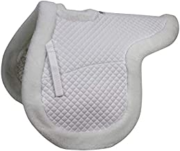 Derby Originals Shaped Wither Relief Dressage English Saddle Pad with Fleece Edging and Contoured Design