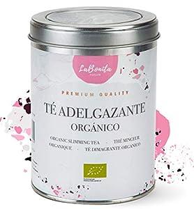 LaBonita Nature, Té Adelgazante quemagrasa para pérdida de peso. 100% Orgánico. Compuesto de té rojo pu-erh, manzana, hibisco, escaramujo y cola de caballo, [Calidad Premium], Lata granel, 100