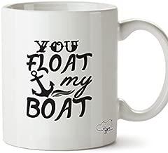 Valentine Herty You float my boat printed mug cup ceramic 11oz