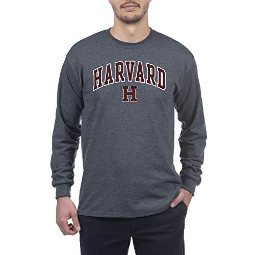 Elite Fan Shop NCAA Harvard Crimson Herren Langarmshirt, Dunkelgrau, Anthrazit, Größe L