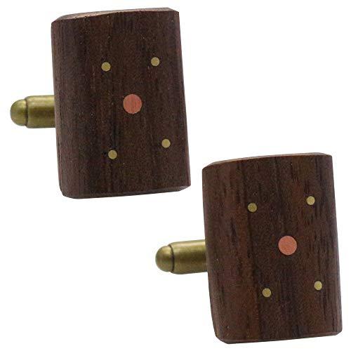 ウォールナット オリジナル 手作り木工 カフス カフスボタン カフリンクス 116