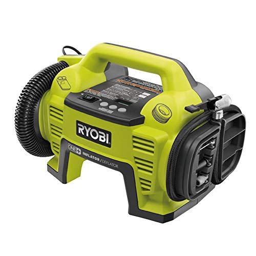 Ryobi Kompressor 18 V (Druckluftkompressor ohne Akku und Ladegerät, digitale Druckanzeige, inkl. Schläuche und Adapter) R18l-0