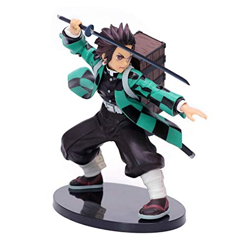 Demon Slayer Tanjiro Kamado Cute Cool Anime Character Toy Action Figure Statues Safe Figure Model Doll Decoration Birthday Gifts Best Gift Collection Toy