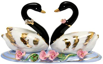Feng Shui Swans-Hand Crafted and Decorated Chinese Porcelain 11013