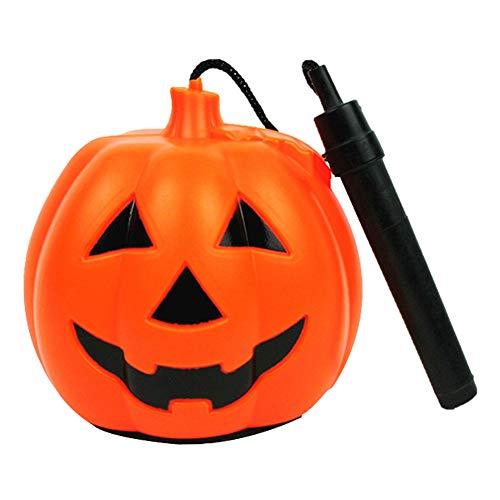 Halloween Kürbis Laterne, tragbare rotierende LED Sternenkürbis Kürbislampe mit Musik, Kinder Halloween Geschenk Spielzeug Halloween Dekorationen Indoor Outdoor