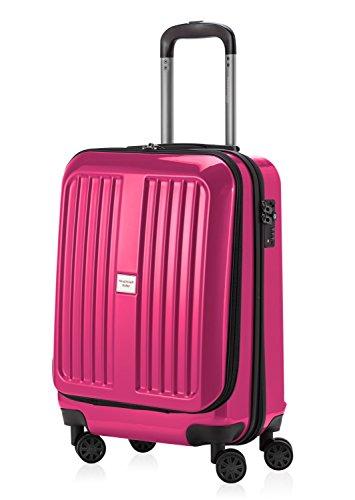 HAUPTSTADTKOFFER - X-Berg - Handgepäck Hartschalenkoffer Koffer Trolley, 55 cm, 42 Liter, TSA, Magenta