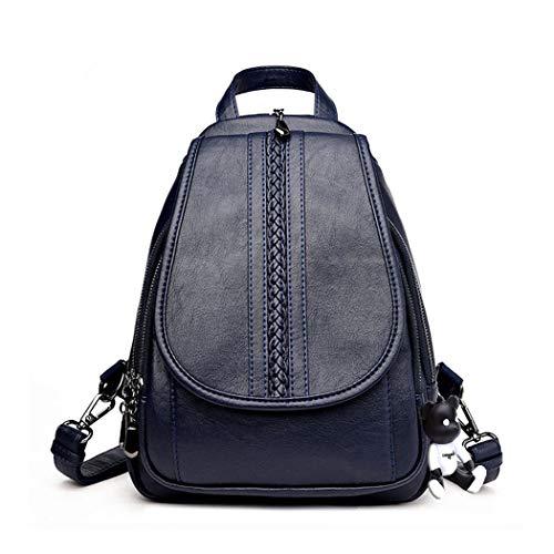 BUKESIYI Women's Backpack Handbags Rucksack Shoulder Bags PU Leather Mini Kawaii Anti-theft CCUK78241 Blue
