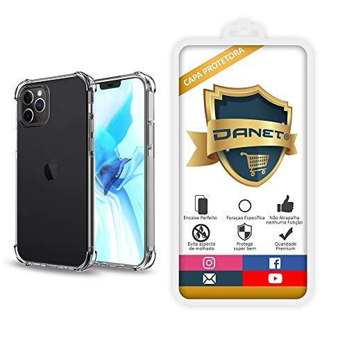 """Capa Protetora Para Iphone 12 Pro Max com Tela de 6.7"""" Polegadas Capinha Case Transparente Air Anti Impacto Proteção De Silicone Flexível - Danet"""