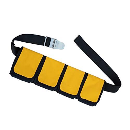 Toygogo Bleigurt Tauchen mit Taschen Bleigürtel Gewichtsgurt Taschenbleigurt - 4 Tasche
