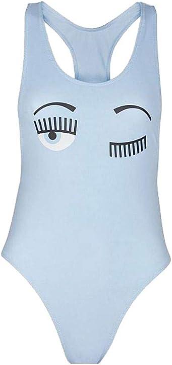 Costume bagno chiara ferragni luxury fashion donna cfb009corydalis azzurro poliammide costume | ss21 B08G9SVB4Q