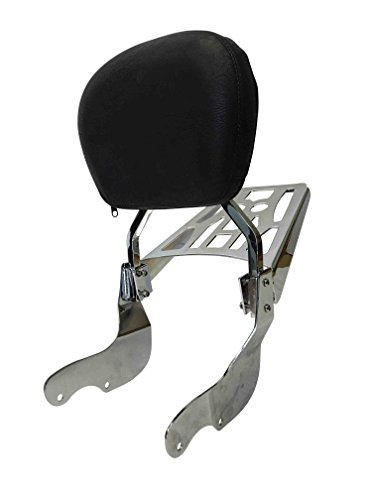 Contoured - Sissy Bar Backrest & Luggage Rack for Victory Vegas/Kingpin