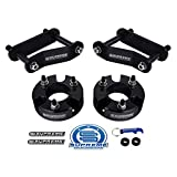 Supreme Suspensions - Full Lift Kit for 2005-2020 Nissan Frontier 2005-2015 Nissan Xterra and 2009-2012 Suzuki Equator 3' Front Lift Strut Spacers + 2' Rear Lift Shackles 2WD 4WD (Black)